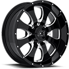 Eagle Alloy Wheels<br> Series 014 Gloss Black with Milled Accents