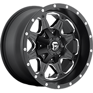 Fuel D534 Boost Matte Black and Milled Wheels