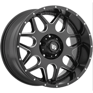LRG Wheels<br /> Splits 104 Black Milled
