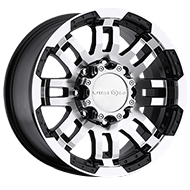 Vision Wheels <br>375 Warrior Gloss Black Machined Face