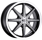 Vision Wheels <br>Kryptonite Gloss Black Machined