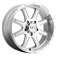 Vision Wheels 421 Cannibal </br>Silver Paint Machined Face