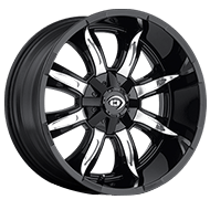 Vision Wheels 423 Manic </br>Gloss Black Machined Face
