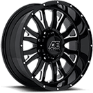 Eagle Alloy Wheels<br> Series 511 Gloss Black with Milled Accents and Clear Coat