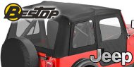Bestop Supertop Soft Tops <br>76-95 Jeep YJ and CJ7 <br>Tinted Windows