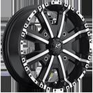 KO Offroad<br /> 808 Dirty Harry ATV Black Machined<br /> 4 Lug