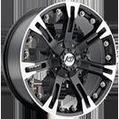 KO Offroad<br /> 840 Anaconda Matte Black/Machined<br /> 5 Lug