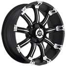 KO Offroad<br /> 865 Kutter Matte Black/Machined<br /> 5 Lug