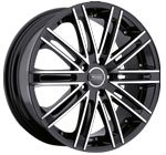 Prado Wheels Arcana 903 Gloss Black Machined Face
