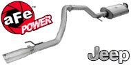 AFE Stainless Steel Exhausts <br/> Jeep