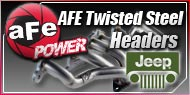 AFE Twisted Steel Headers Jeep