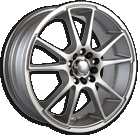 Akita Racing Wheels AK-35 435 Hyper Silver Machined Lip
