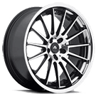 Adventus Wheels<br /> AVS-5 Gloss Black Machined w/ SS Lip