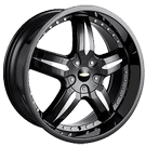 Baccarat Wheels <br/>Sync 1140B Black