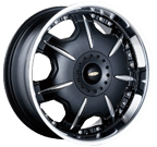 Baccarat Wheels <br/>Director 1150B Black Machined