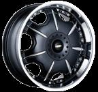 Baccarat Wheels <br/>Director 1150B Black Machined