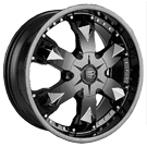 Baccarat Wheels <br/>Athlete 2150B Black