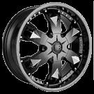 Baccarat Wheels <br/>Athlete 2150B Black