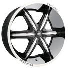 Baccarat Wheels<br>Outrage 2160B Black Machined Lip