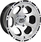 Black Rock Wheels<br /> ATV Revo 100 Machined Clear Coated