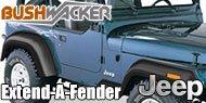Bushwacker <br />Jeep Extend-A-Fender ®<br /> Fender Flares
