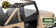 Bestop Jeep Fabric Replacement Door Skins <br>for 1988-1995 Jeep YJ Wrangler