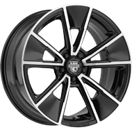 Centerline Wheels <br />634MB MM5 Mirror Machined Face with Gloss Black Accents