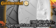 Continental Road Attack 2<br /> Hypersport Touring Radial Tires