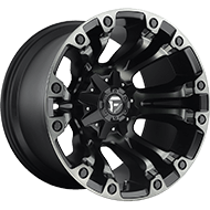 Fuel D569 Vapor Black Machined W/ Dark Tint Wheels