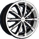 Dip Slack D66 Black Machined Wheels