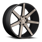 DUB Wheels Future S127 <br />Black Machined
