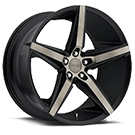 DUB Wheels Lace S119 <br /> Black and Machined w/ Dark Tint