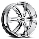 DUB Wheels Phase 6 S107 <br /> Chrome Plated