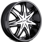 Platinum Wheels<br /> 413 Cloak Gloss Black with<br /> Diamond Cut & Clear Coat