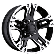 Ultra Wheels<br /> 234-235 Maverick Gloss Black w/ Diamond Cut Accents