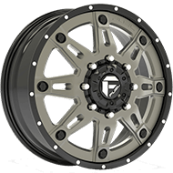 Fuel Wheels D232 Hostage II Gun Metal Matte Finish Dually Front