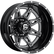 Fuel Wheels D232 Hostage II Matte Black and Anthracite Center Dually Rear
