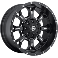 Fuel D517 Krank Matte Black Milled Wheels