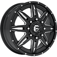 Fuel D267 Lethal Black Milled Finish Front Wheels