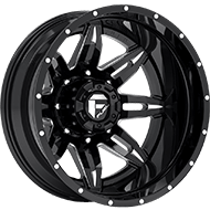 Fuel Lethal D267 Dually Rear Black Matte Wheels