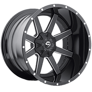 Fuel D262 Maverick Black Milled Wheels