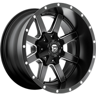 Fuel Wheels D538 - Maverick Deep Lip in Black Milled Finish