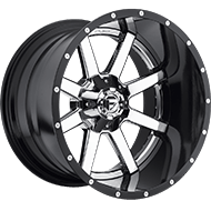 Fuel Wheels <br /> D260 Maverick Chrome w/ Gloss Black Lip
