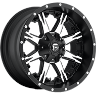 Fuel D541 Nutz Deep Lip in Black and Machined Wheels