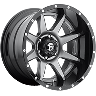 Fuel D238 Rampage Anthracite Center Gloss Black Wheels