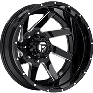 Fuel Renegade D265 Dually Rear Gloss Black Milled Wheels