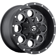 Fuel D525 Revolver Matte Black and Milled Wheels
