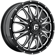 Fuel D213 Throttle Dually Front Black Milled Wheels