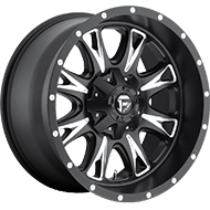 Fuel D513 Throttle Matte Black Milled Wheels