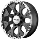 Helo Wheels<br /> HE878 Dark Silver